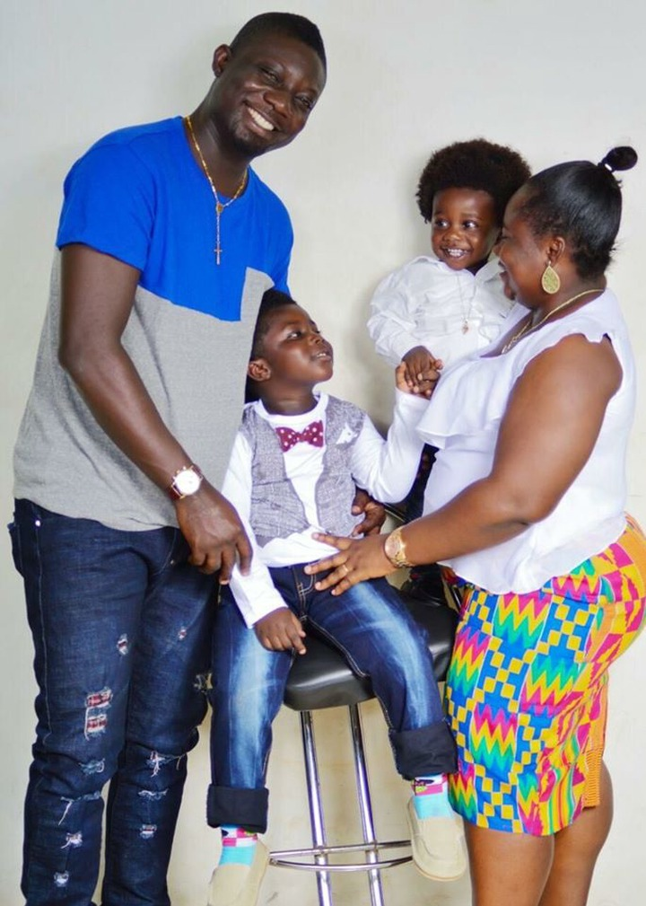 Meet The Beautiful Family Of Bill Asamoah With His Kids Looking Exactly Like Him - Photos 4