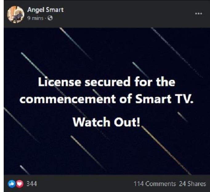 Captain smart launches Smart TV on Facebook Live