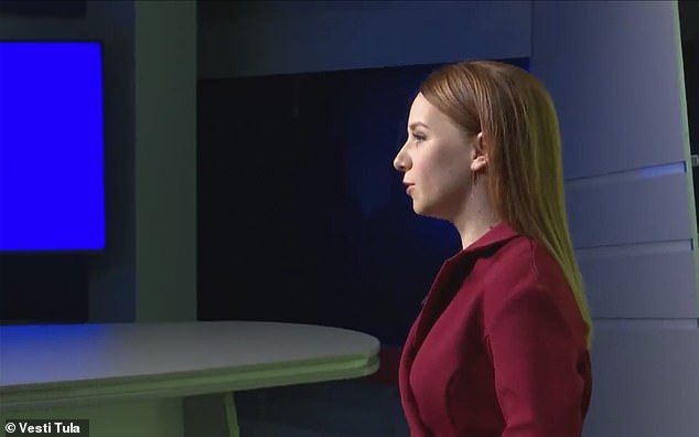 Russian nurse who went viral for wearing only lingerie under a see-through protective gown in male Coronavirus ward becomes a TV weather presenter (Photos)