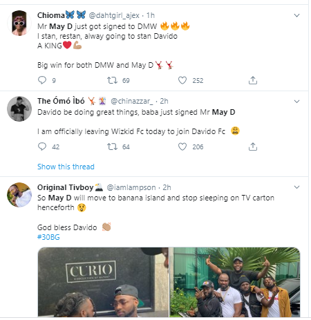 Davido signs May D to his DMW label