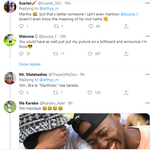 South African man calls out his father for naming him Martha