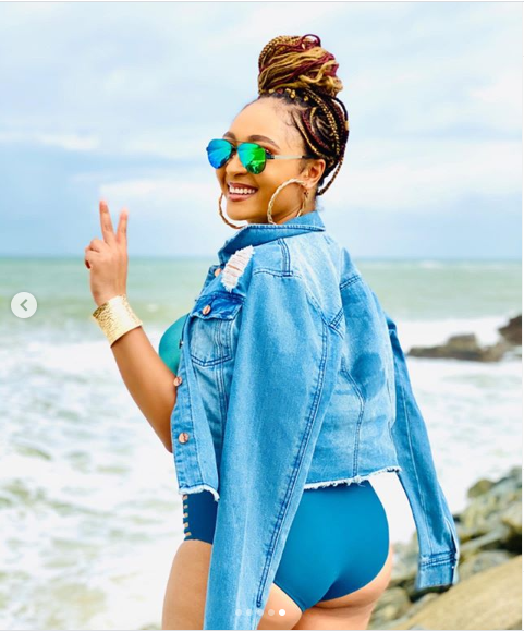 ?Actress Rosy Meurer shows off her hot body in one-piece swimwear