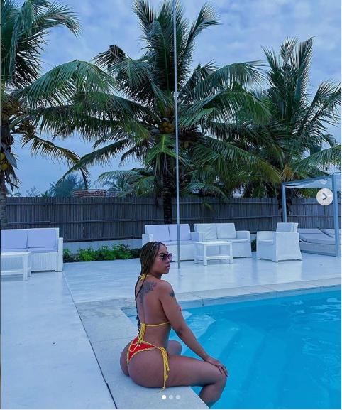 Mercy Eke flaunts her curvy backside as she shares more bikini photos