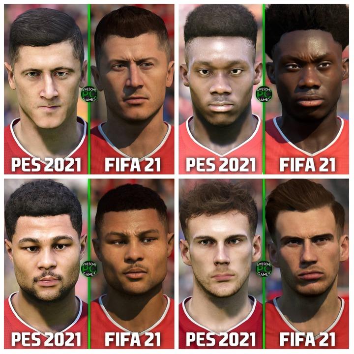 Bayern Munich (L-R): Lewandowski, Davies, Gnabry and Goretzka