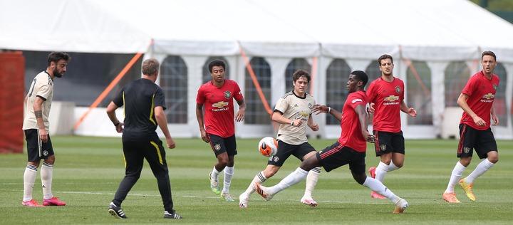 Pobga's team versus Bruno Fernandes' team