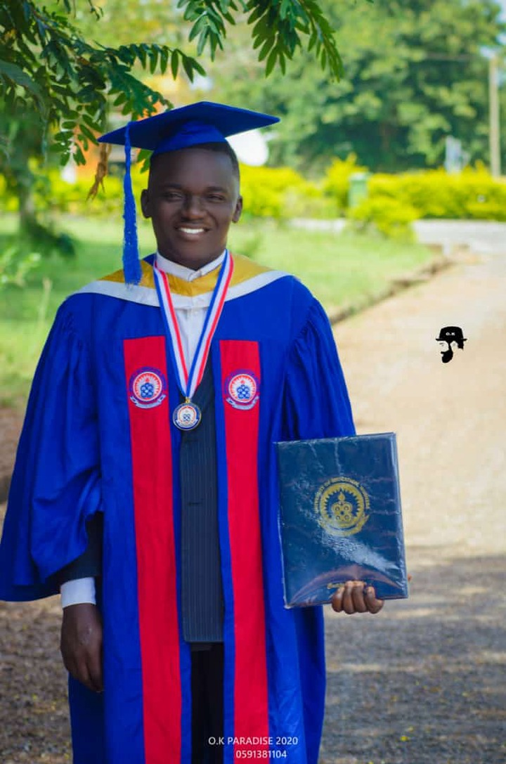 Education with Talent is Possible - Says Phrimpong As He Graduates From University