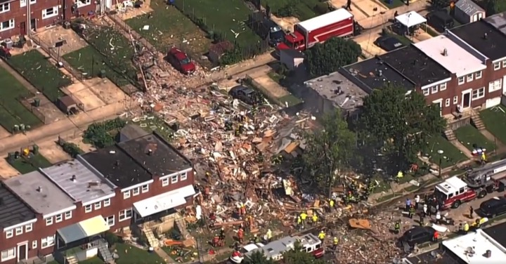 Major gas explosion destroys homes in Baltimore, killing 1 and trapping others (photos)