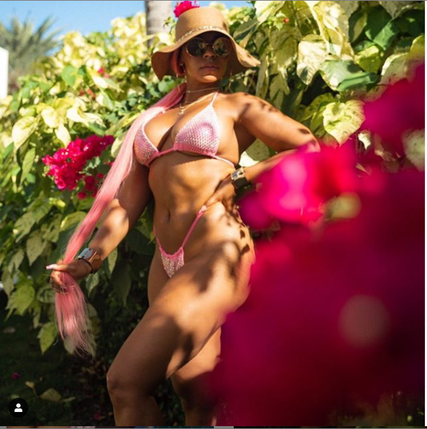 Bikini-clad Ashanti flaunts her hot body in new photos as she continues to celebrate her 40th birthday in Antigua
