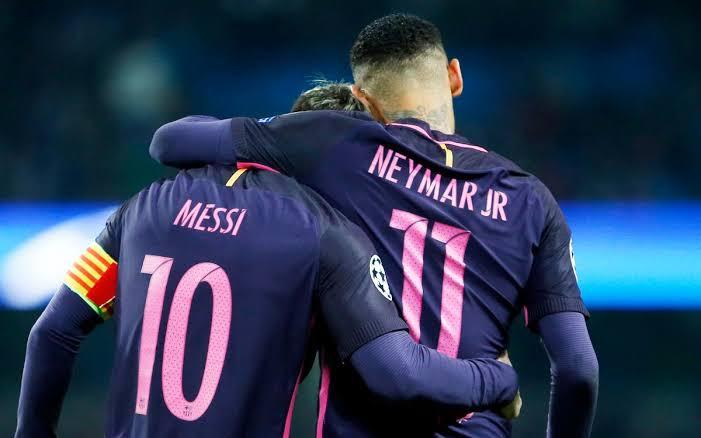 Lionel Messi and Neymar Jr.
