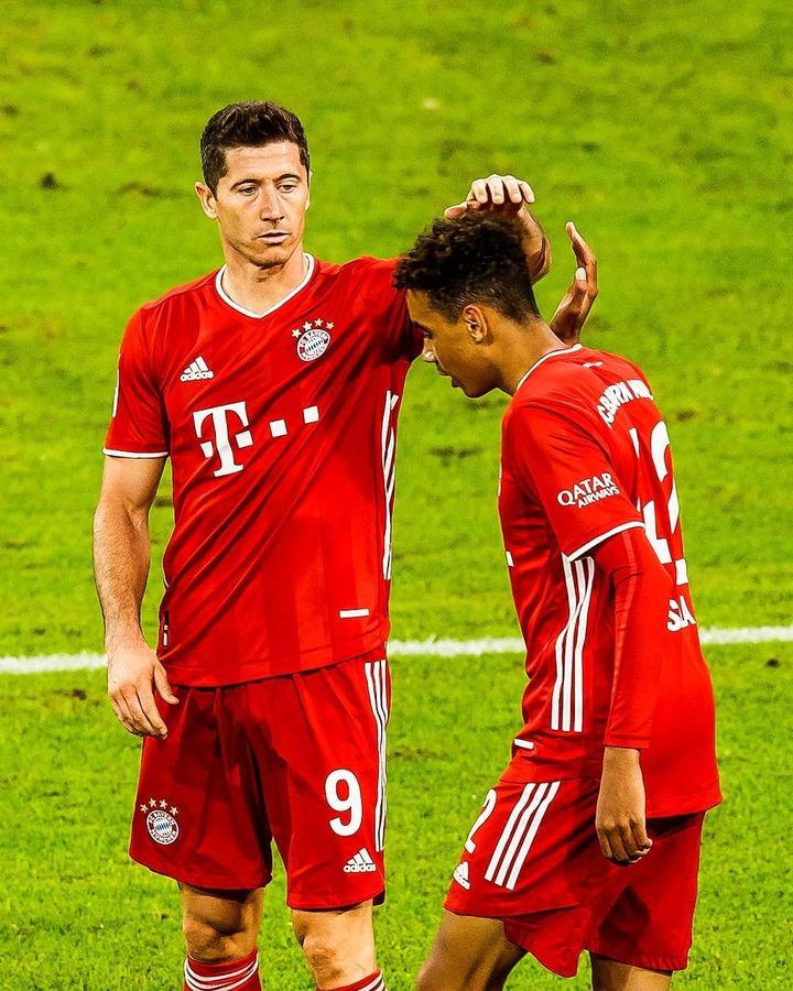 Lewandowski assisted Musiala to score his first Bundesliga goal.