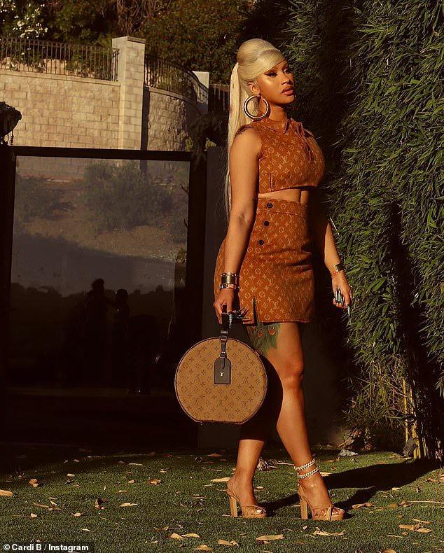 Cardi B's Louis Vuitton ensemble