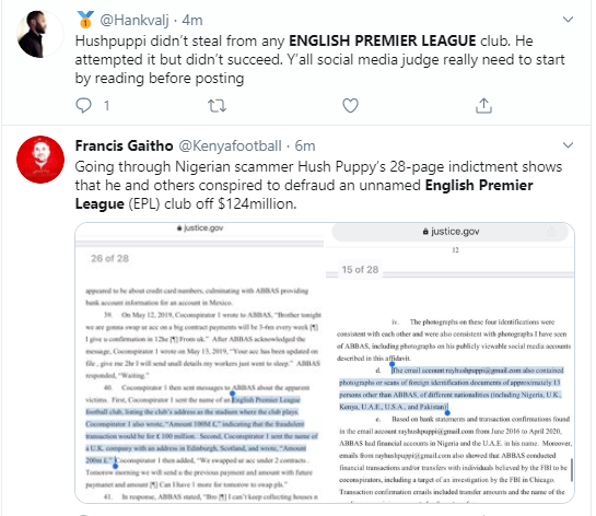 Football fans react after Hushpuppi was accused of conspiring to steal ?100 million from an English Premier League club