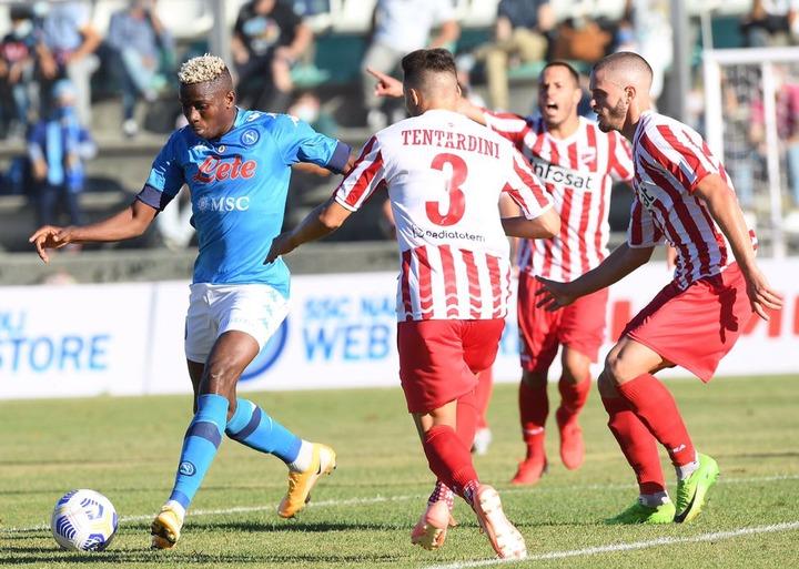 Victor Osimhen scores hat-trick against Teramo