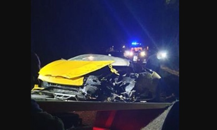 PSG goalkeeper, Marcin Bulka wrecks ?200k rented Lamborghini in horror crash while on lockdown in Poland (Photos)