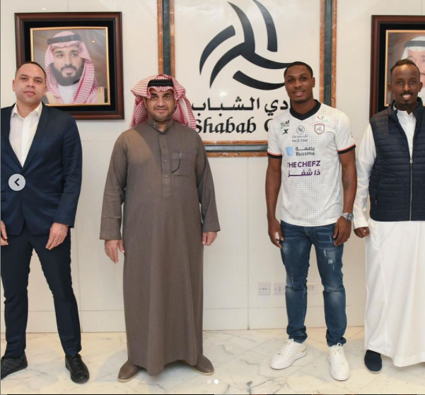 Odion Ighalo joins Saudi Arabian side Al Shabab on a permanent deal from Shanghai Shenhua (photos)