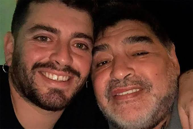 Diego Maradona Snr and Jr