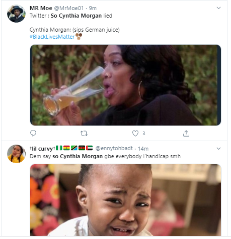 #SoCynthiaMorganLied is trending on Twitter after Jude Okoye released copies of their contract which revealed they had a 50-50 sharing formula