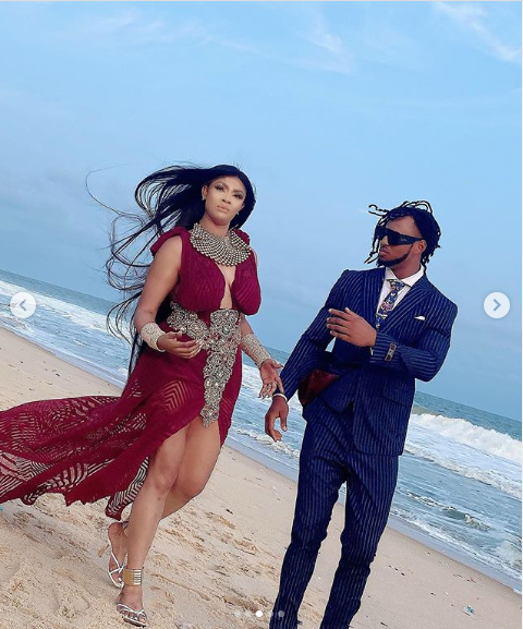 Actress, Angela Okorie marries her fiance Desmond in a romantic beach wedding (Photos)