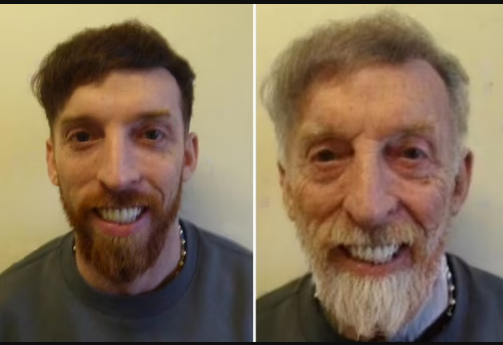 Police mock gangster twins with billboard mugshots showing how old they