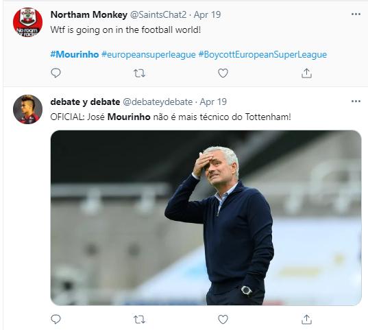 Football fans react to Jose Mourinho