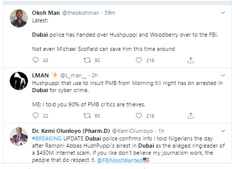 Nigerians react to Hushpuppi and Woodberry