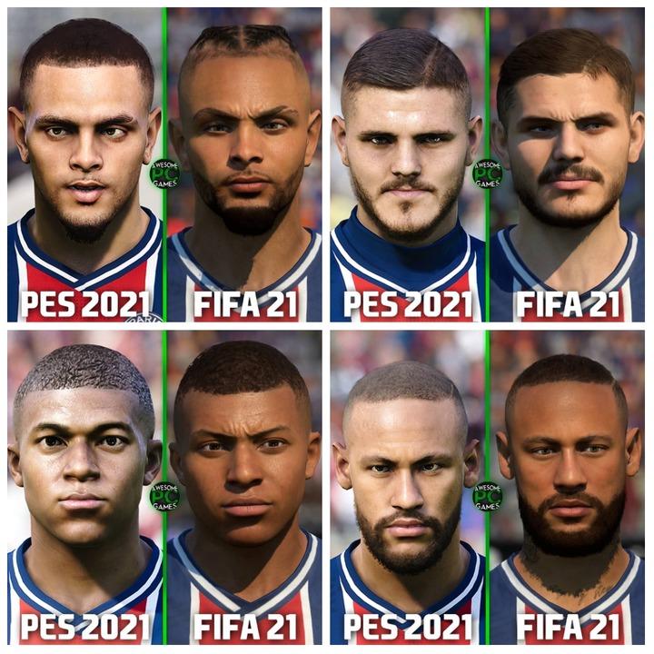 Paris Saint Germain (L-R): Kurzawa, Icardi, Mbappe and Neymar