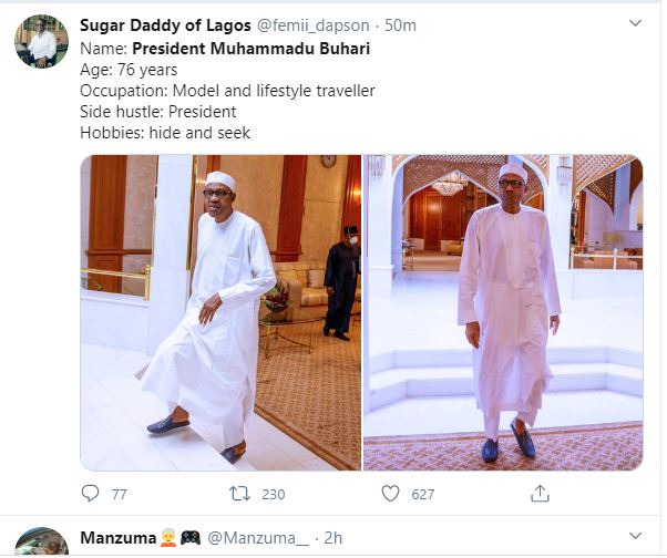 abe368b1a27012a2931cf219d80a2d7c?quality=uhq&resize=720 - Nigerians Mocks President Buhari As He Addresses The Nation By 7 pm