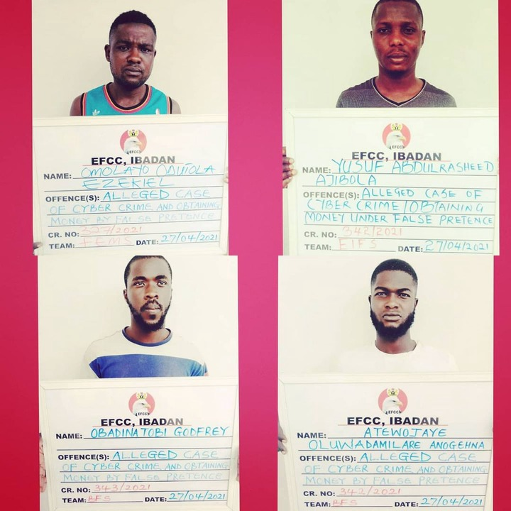 33 suspected internet fraudsters arrested in Abeokuta (photos)