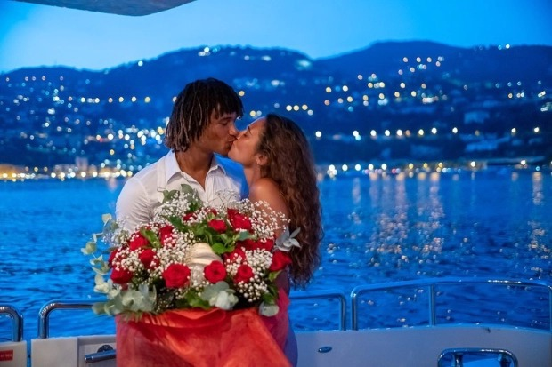Manchester City-bound, Nathan Ake proposes to his stunning girlfriend Kaylee Ramman while on holiday in France (photos)