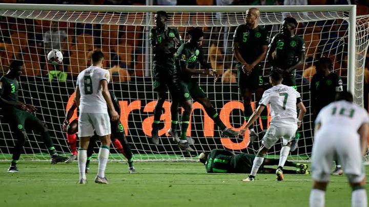 Riyadh Mahrez scores stunning free kick goal against Nigeria