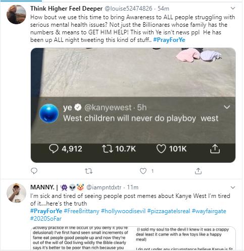 #PrayForYe trends on Twitter following Kanye West
