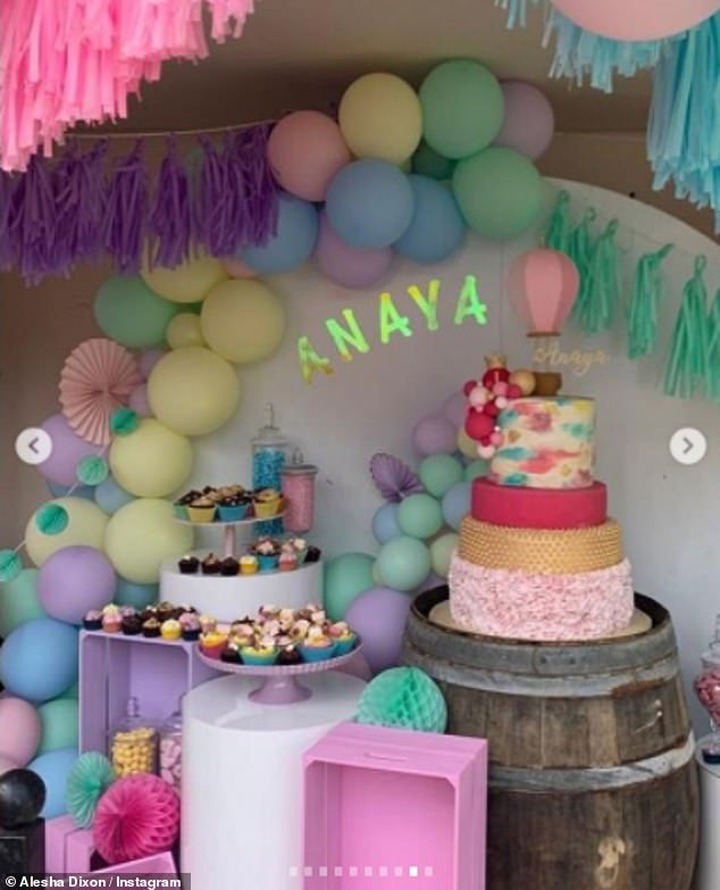 Singer, Alesha Dixon and her husband, Azuka throw lavish birthday party for their one-year-old daughter, Anaya (photos)