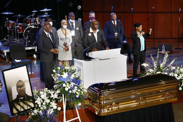 George Floyd memorial service in Minneapolis begins with T.I, Ludacris Tyrese Gibson, Kevin Hart and others in attendance (Photos)