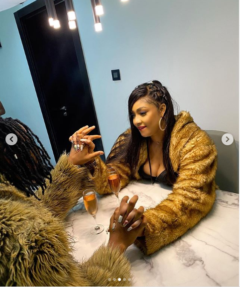 Newly engaged Angela Okorie shares new loved-up photos with her fiance