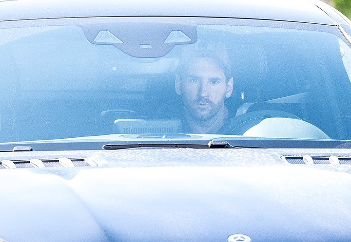 Lionel Messi returns to training with Barcelona for the first time since asking to leave the club (Photos)