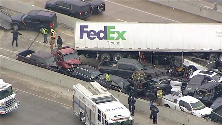 Six killed and 65 injured in 133 vehicle pileup crash in Texas (photos)
