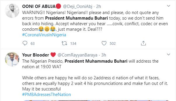 ee5fcbace7bb01544073a3d4655332c9?quality=uhq&resize=720 - Nigerians Mocks President Buhari As He Addresses The Nation By 7 pm