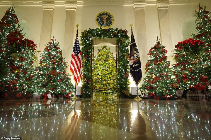 Melania Trump unveils White House Christmas decorations for the last time as US first lady (Photos/Video)