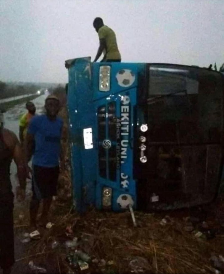 Ekiti United players involved in auto crash