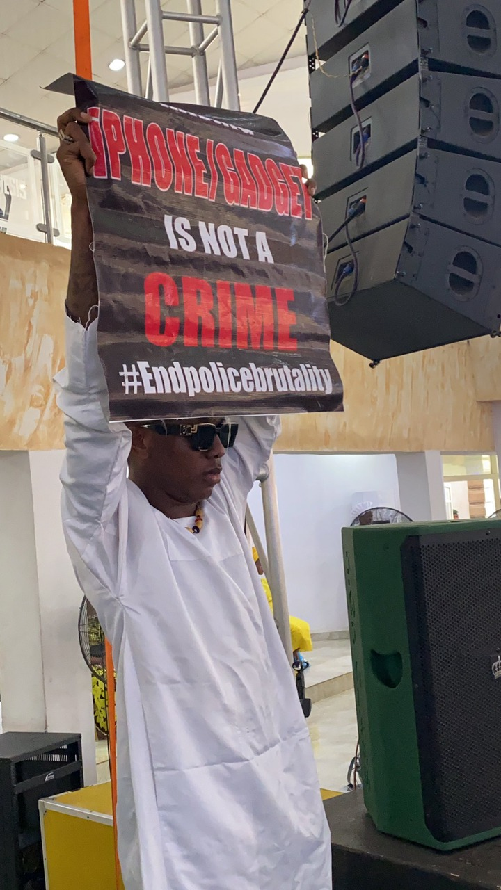Small Doctor takes #EndSARS protest to his church in Lagos