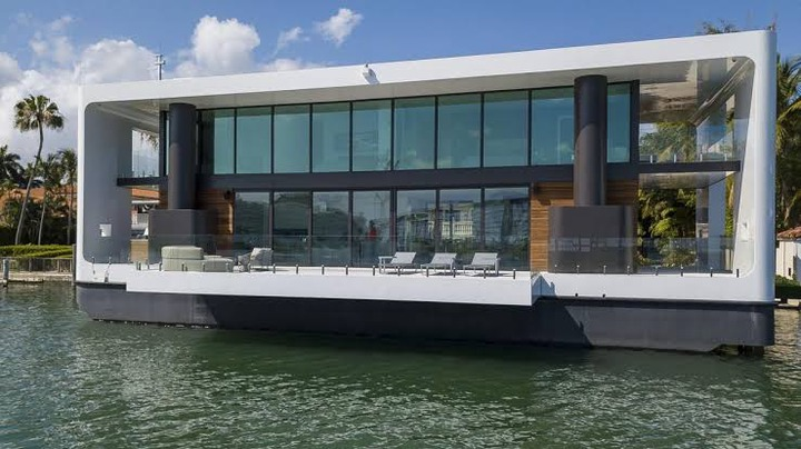 Checkout World First Powered Solar Floating Mansion In Miami