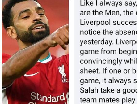 See How Liverpool Fans Reacted As Salah's Covid-19 Negative Result Is Confirmed