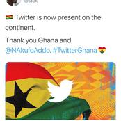 Twitter picks Ghana as their Regional Headquarters in Africa ahead of Nigeria. See reactions