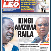 Today's newspaper: Kingi Shuts Raila Up, Lashes On Odinga For Saying ODM Is Enough For The Coast