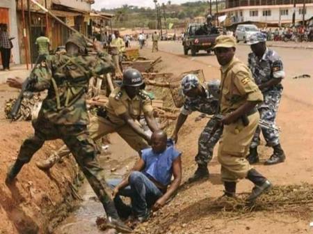 Sad:Military man beaten to death in Agona Swedru this morning.