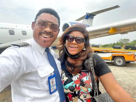 Nigerian Actress, Destiny Etiko Shares Photos With Omotola Jade's Husband, Captain Ekeinde