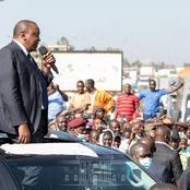 President Uhuru Kenyatta's Stopover At Juja After Waititu's Funeral That Everyone Is Talking About