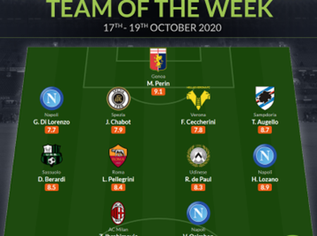 Osimhen makes Seria A team of the week.