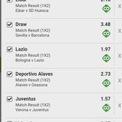 Today's Spain Laliga And Italy Serie A Match   To Secure Massive Win