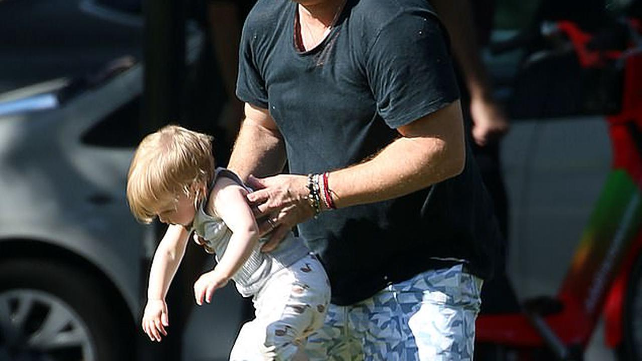 Get shorty: EXCLUSIVE: Daddy's girl! Doting father Karl Stefanovic takes his adorable one-year-old daughter Harper on a playdate to a park